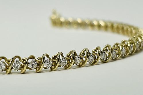 10kt Gold 1.00ctw Diamond Tennis Bracelet
