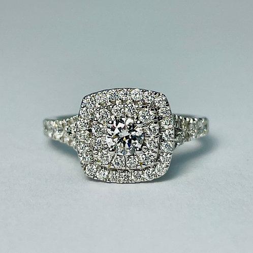 14kt White Gold 1.50ctw Diamond Ring Set