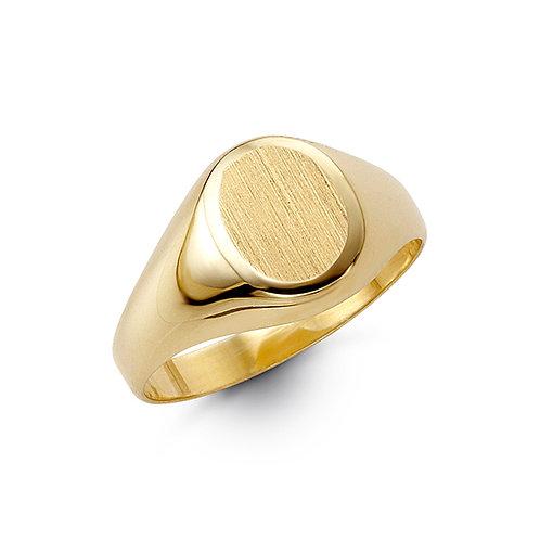 10kt Gold Bella Fierce Men's Oval Signet Ring
