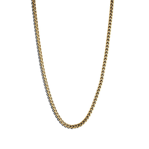 ITALGEM Gold Plated Stainless Steel 3.5mm Round Franco Chain
