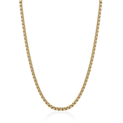 ITALGEM Stainless Steel Gold Plated Box Link Chain