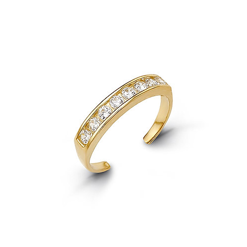 10kt Gold Toe Ring with CZ