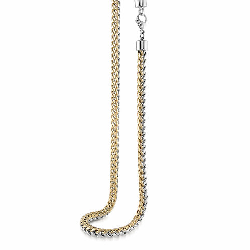 ITALGEM Gold Plated 2-Tone Stainless Steel 5mm Round Franco Chain
