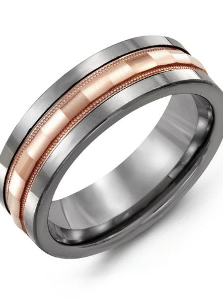 Men's Baguette Diamond-Cut Wedding Ring