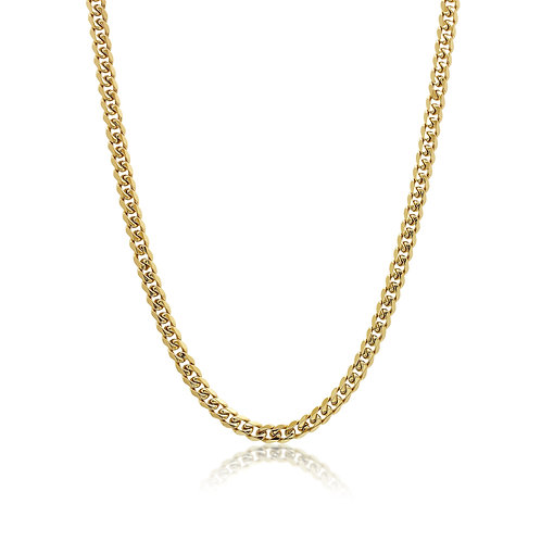 ITALGEM Gold Plated Stainless Steel 7.7mm Curb Chain
