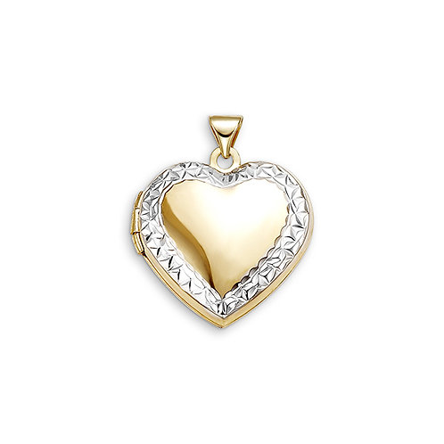 10kt Gold Sentiments Locket Heart Shaped