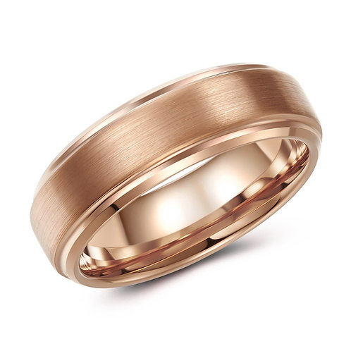 7mm rose-tone tungsten band