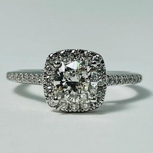14kt White Gold Cushion Cut Diamond Ring 1.33ctw