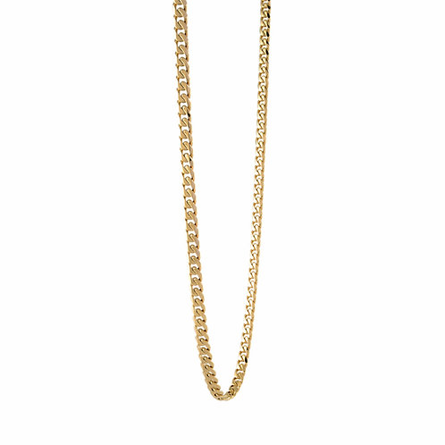 ITALGEM Gold Plated Stainless Steel 3.3mm Curb Chain
