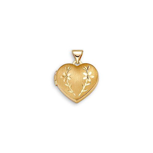 10kt Gold Sentiments Locket Heart Shaped