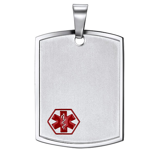 Stainless steel  medical tag