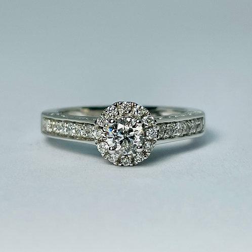 14kt White Gold 0.75ctw Diamond Engagement Ring
