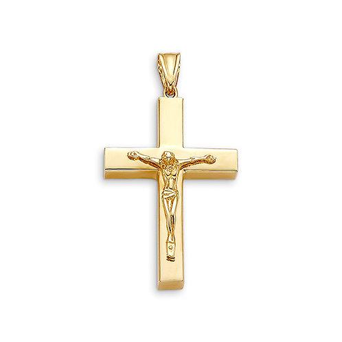 10kt Gold Bella Faith LargeSquare Edge Crucifix Cross