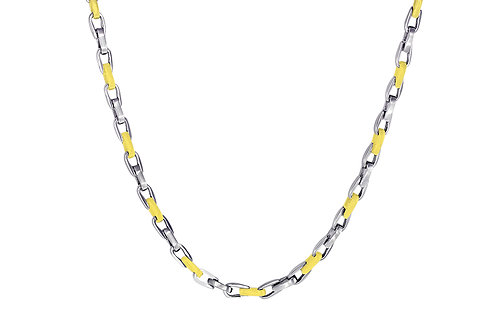 ITALGEM Gold Plated 2-Tone Stainless Steel 4.5mm Cylinder Chain