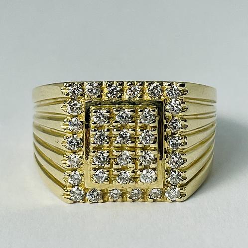 10kt Gold Men's Diamond Signet Ring