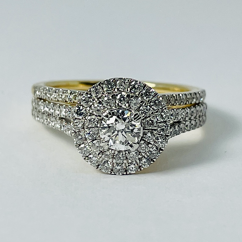 14kt Gold Diamond Engagement Ring Set