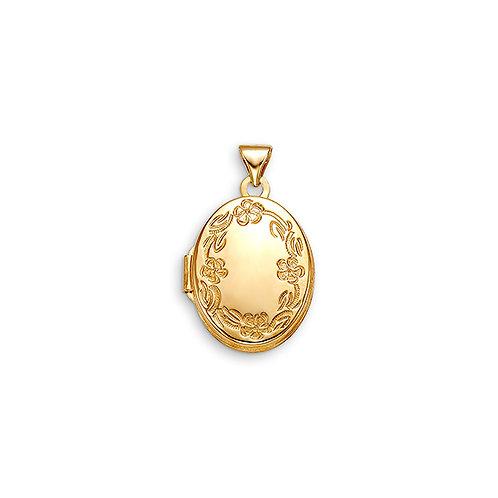 10kt Gold Sentiments Oval Shaped Locket