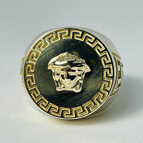 10kt Gold Medusa Ring