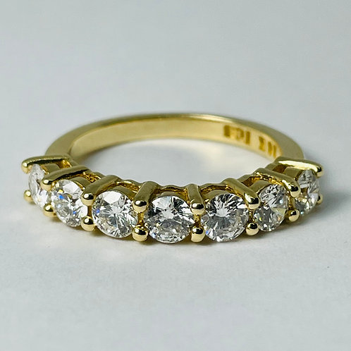 14kt Gold Diamond Band, Shared Claw, 1.25ctw