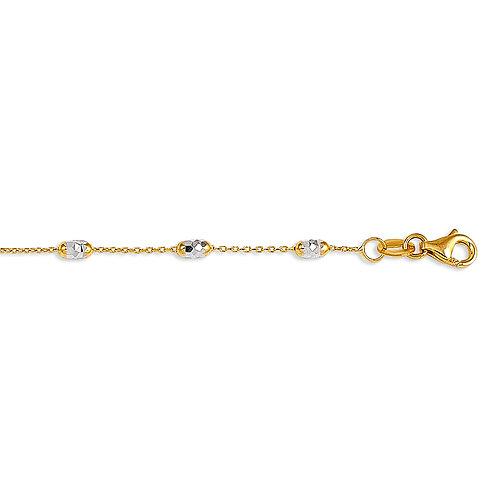 10kt Gold Italian Bead Anklet