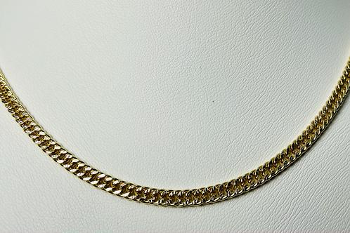 10kt Gold Two-Tone Diamond Cut Curb Chain