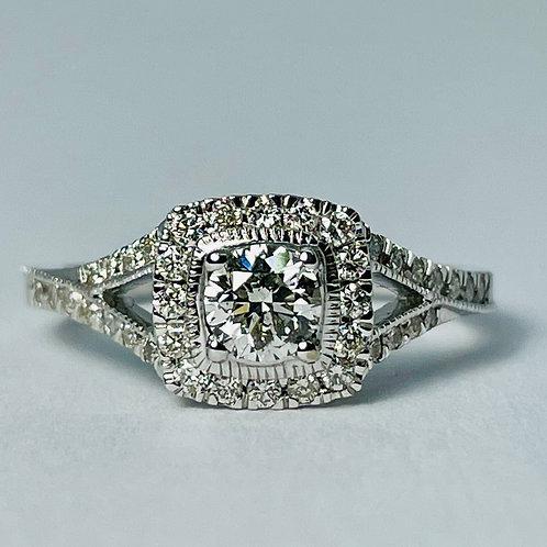 14kt White Gold Diamond Ring 0.78ctw