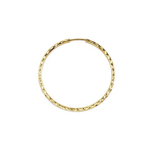 10kt Gold Bella Dazzle Hoops