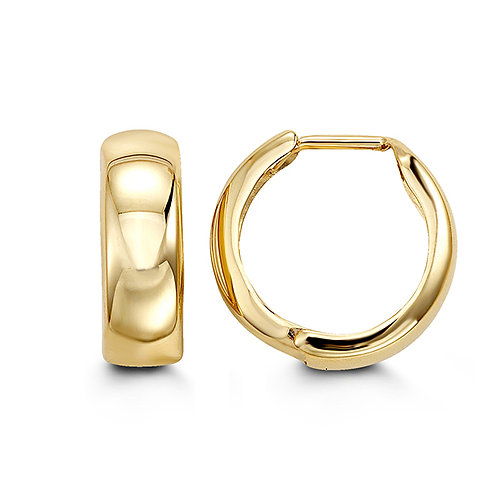 10kt Gold Bella Huggie Hoop Earrings