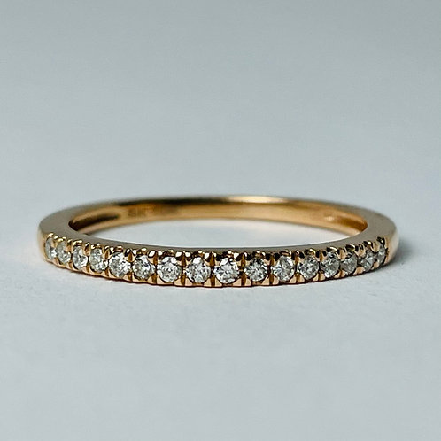 14kt Rose Gold Diamond Band 0.15ctw
