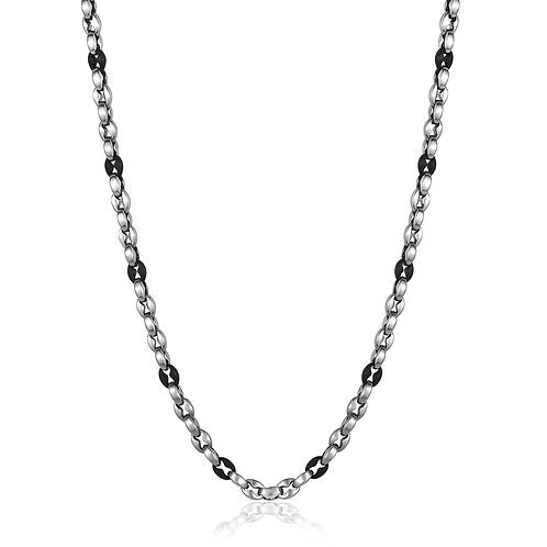ITALGEM 4.5MM Matte Black Oval Chain