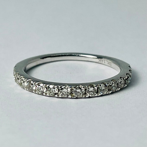 14kt White Gold Diamond Band, 0.50ctw