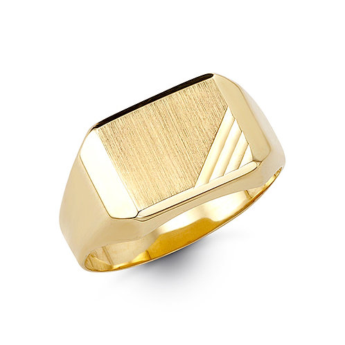 10kt Gold Bella Fierce Men's Signet Ring