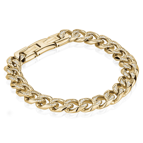 ITALGEM 10.5MM Cuban CZ Bracelet