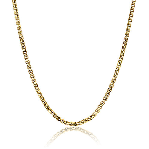 ITALGEM Gold Plated Stainless Steel 2.5mm Round Box Chain