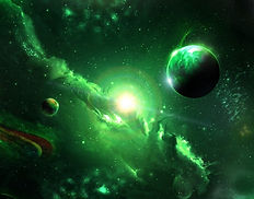 space-galaxy-planets-green-universe-1156