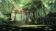 167182-anime-landscape-torii-sun_rays-fo