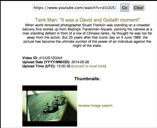 Buscador de metadata de videos