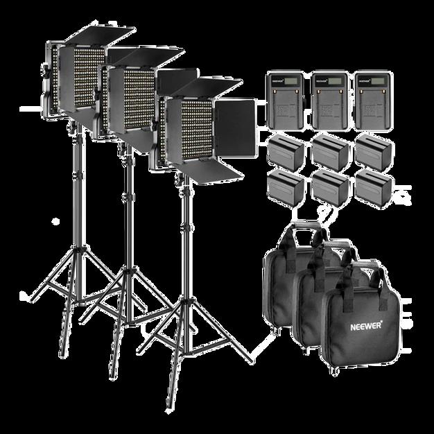 3x Neewer 660 Lights Bi-Colour & Dimmable
