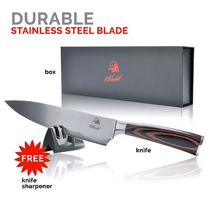 Chef knife with Sharpener in Gift Box Set