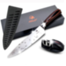 Chef Knife 8 Inch With Blade Cover and S
