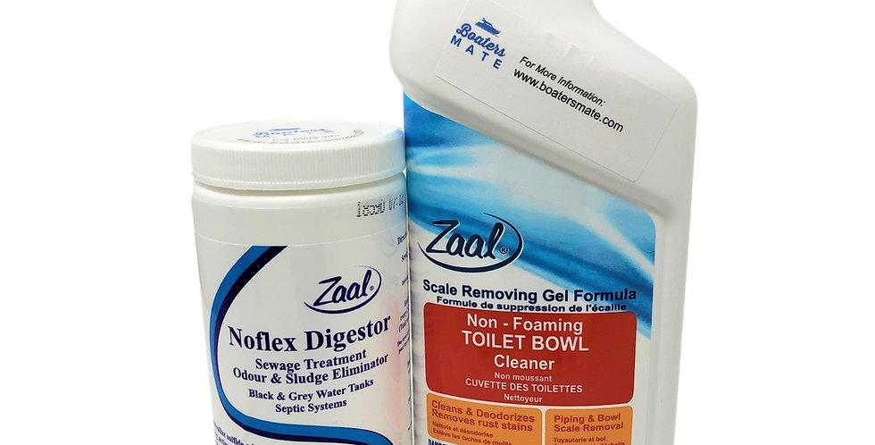 Noflex Digestor & Toilet Bowl Cleaner with Seal Lubricants