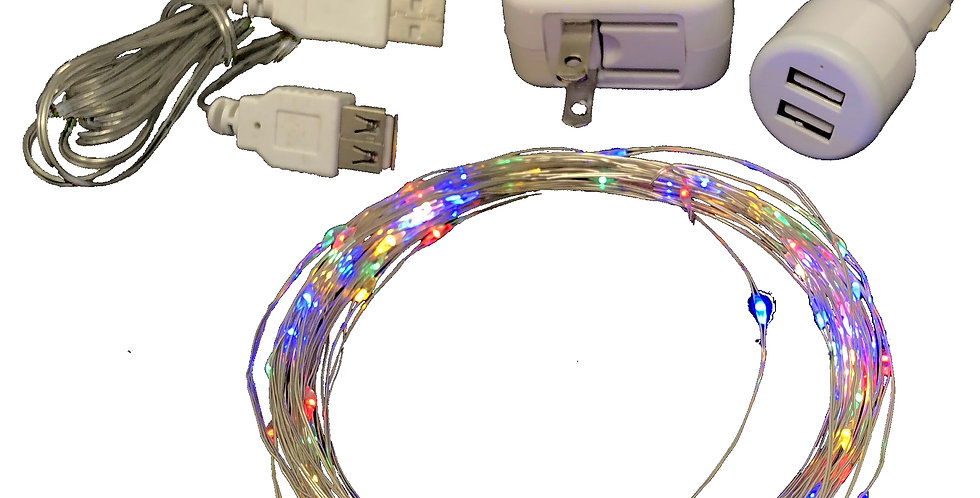 LED String for Boats, Waterproof, Special Adapters, Steady On Solid Colors