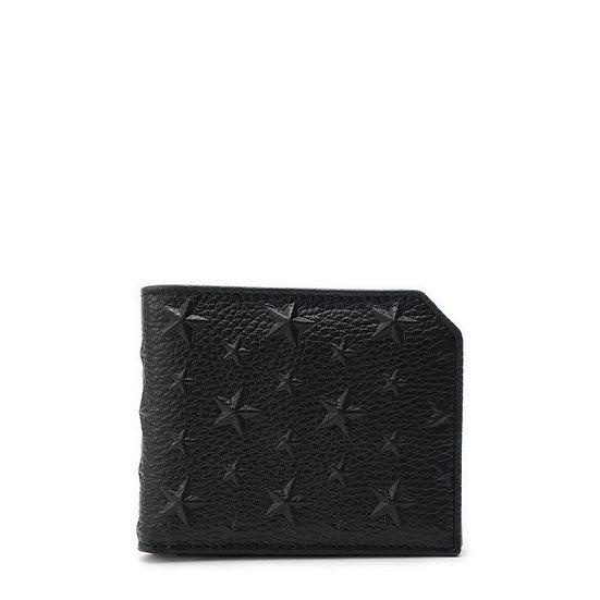 ジミーチュウ【JIMMY CHOO】カーナビー レザー 二つ折財布