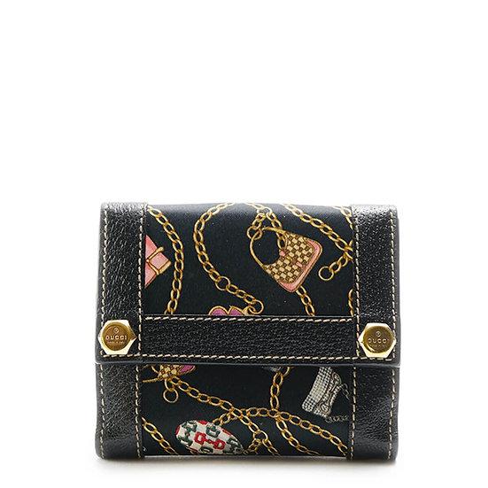 グッチ【GUCCI】チャーミーテクノ三つ折り財布