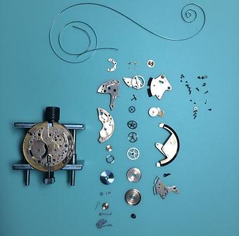 時計分解画像