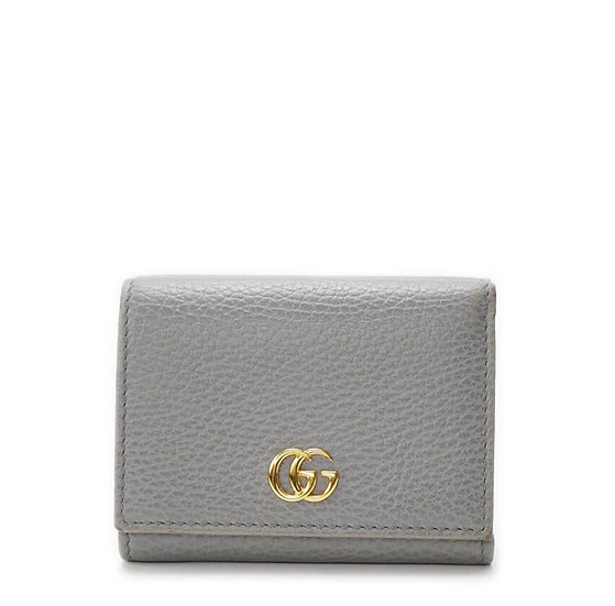 グッチ【GUCCI】プチマーモント コンパクトウォレット Wホック三つ折り財布