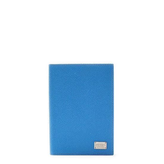 ドルチェ&ガッバーナ【DOLCE&GABBANA】レザー パスポートケース ブルー