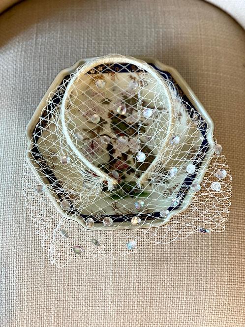 Lady Elizabeth Bridcage Veil