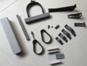abrazadera unicanal de fibra de vidrio, abrazadera pera de fibra de vidrio, mensula de fibra de vidrio, varilla roscada de fibra de vidrio.