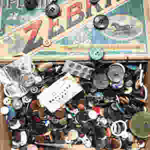Vintage button box